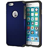 iPhone 6/6s Case, ImpactStrong Heavy Duty Dual Layer Extreme Protection Cover Heavy Duty Case for Apple iPhone 6 / 6s - Navy Blue