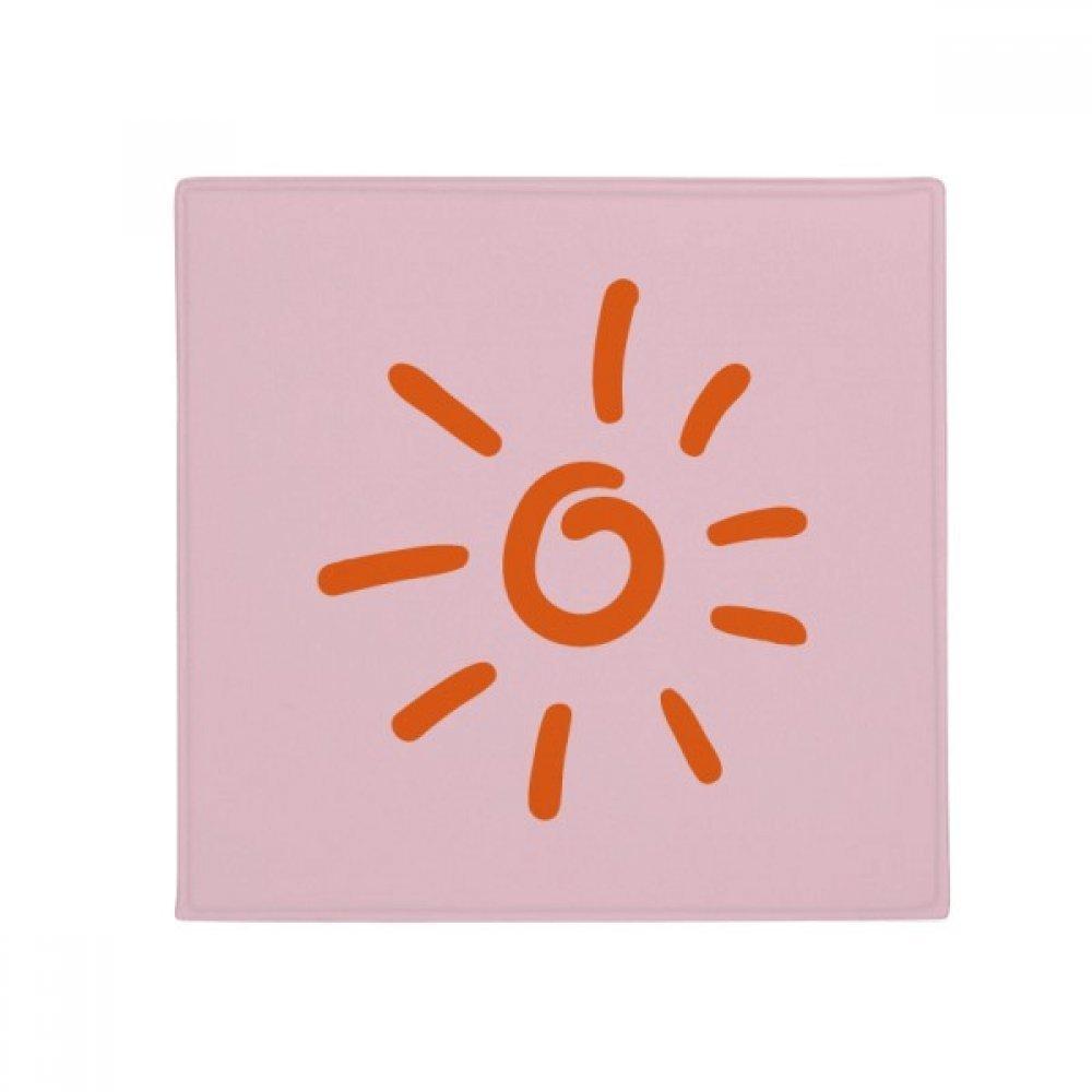 DIYthinker orange Hand Painting Sun Weather Anti-Slip Floor Pet Mat Square Home Kitchen Door 80Cm Gift