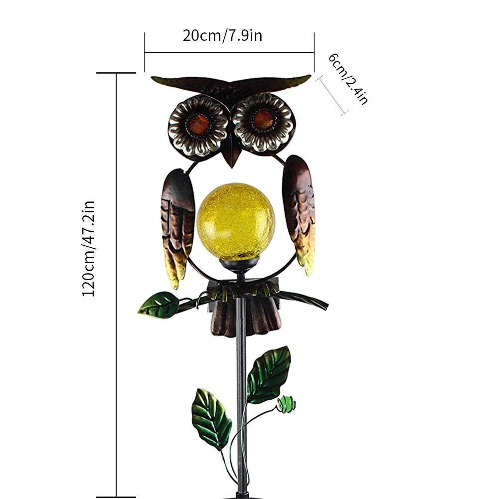 Solarleuchte Garten Solar Lampen Metall EULE Im Freien Solarbetrieben Anteil Lichter LED Dekorative Gartenleuchten f/ür Gehweg Weg Yard Rasen