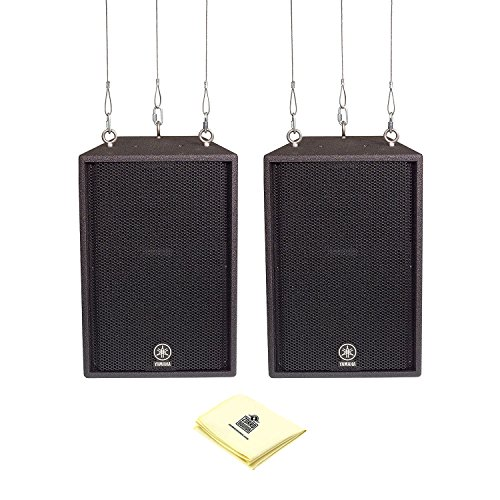 Yamaha C112VA 2-Way Loudspeaker (Piar) with Rigging Fittings and Zorro Sounds Loudspeaker Cleaning Cloth by Yamaha
