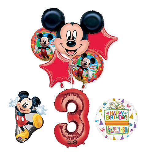 (The Ultimate Mickey Mouse 3rd Birthday Party Supplies and Balloon Decorations)