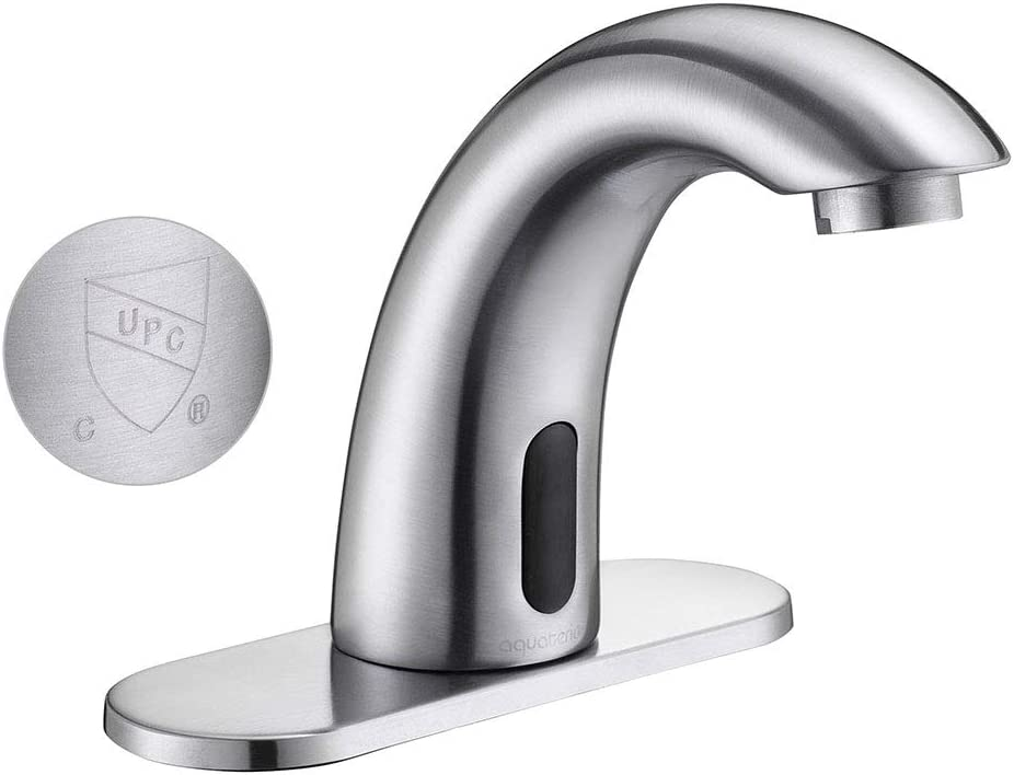 Yescom 5 Automatic Electronic Sensor Touchless Faucet Motion-Activated Bathroom Bar Vessel Sink Tap Chrome