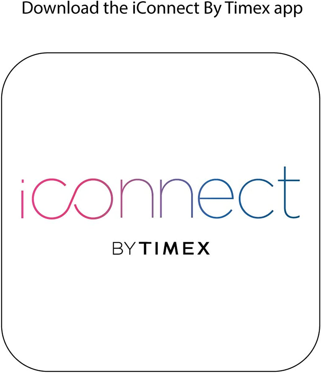 iConnect By Timex Classic Square Touchscreen Smartwatch with Heart Rate, Notifications and Two-Way Bluetooth Calling Gray