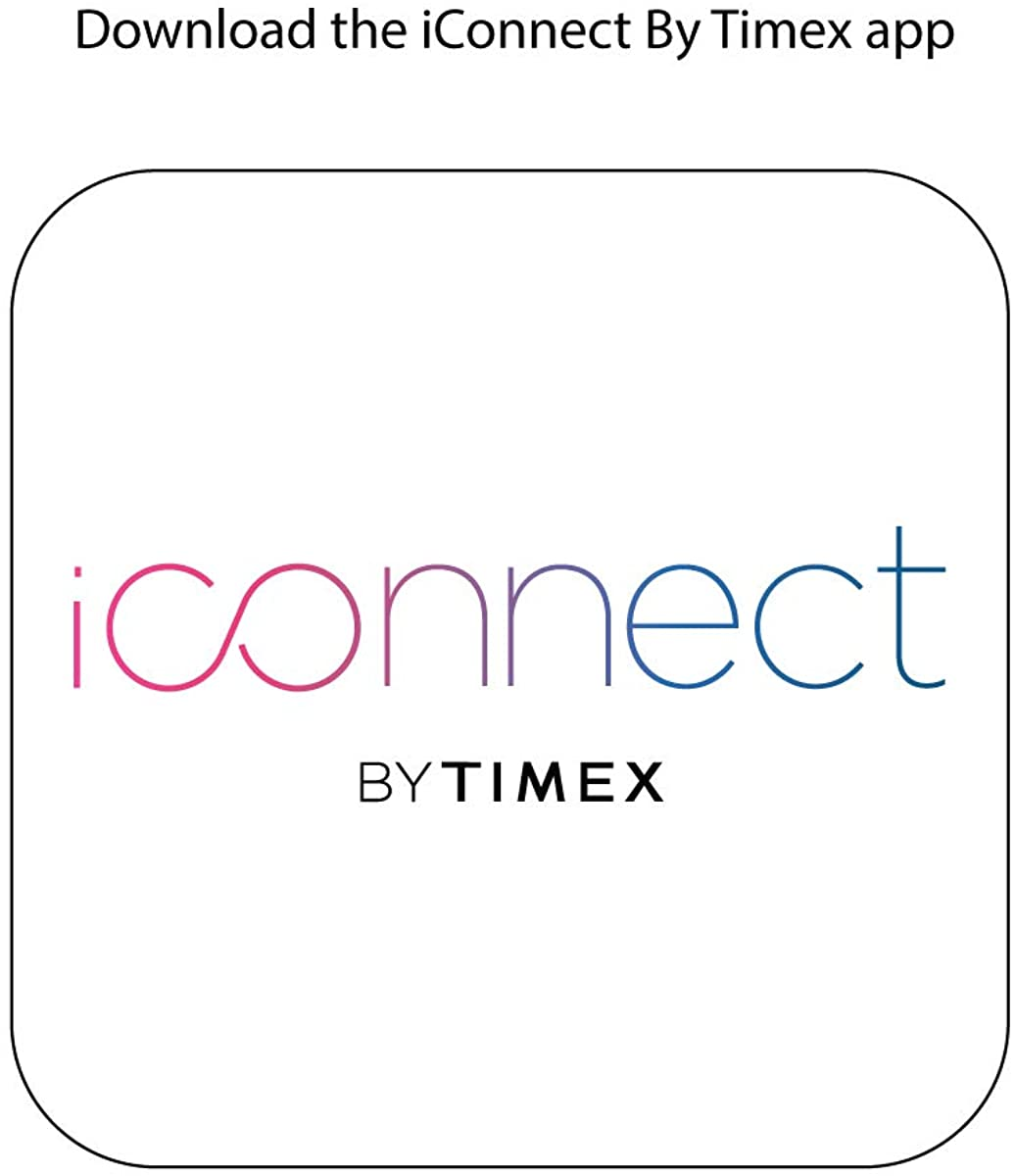 iConnect By Timex Classic Square Touchscreen Smartwatch with Heart Rate, Notifications and Two-Way Bluetooth Calling Beige
