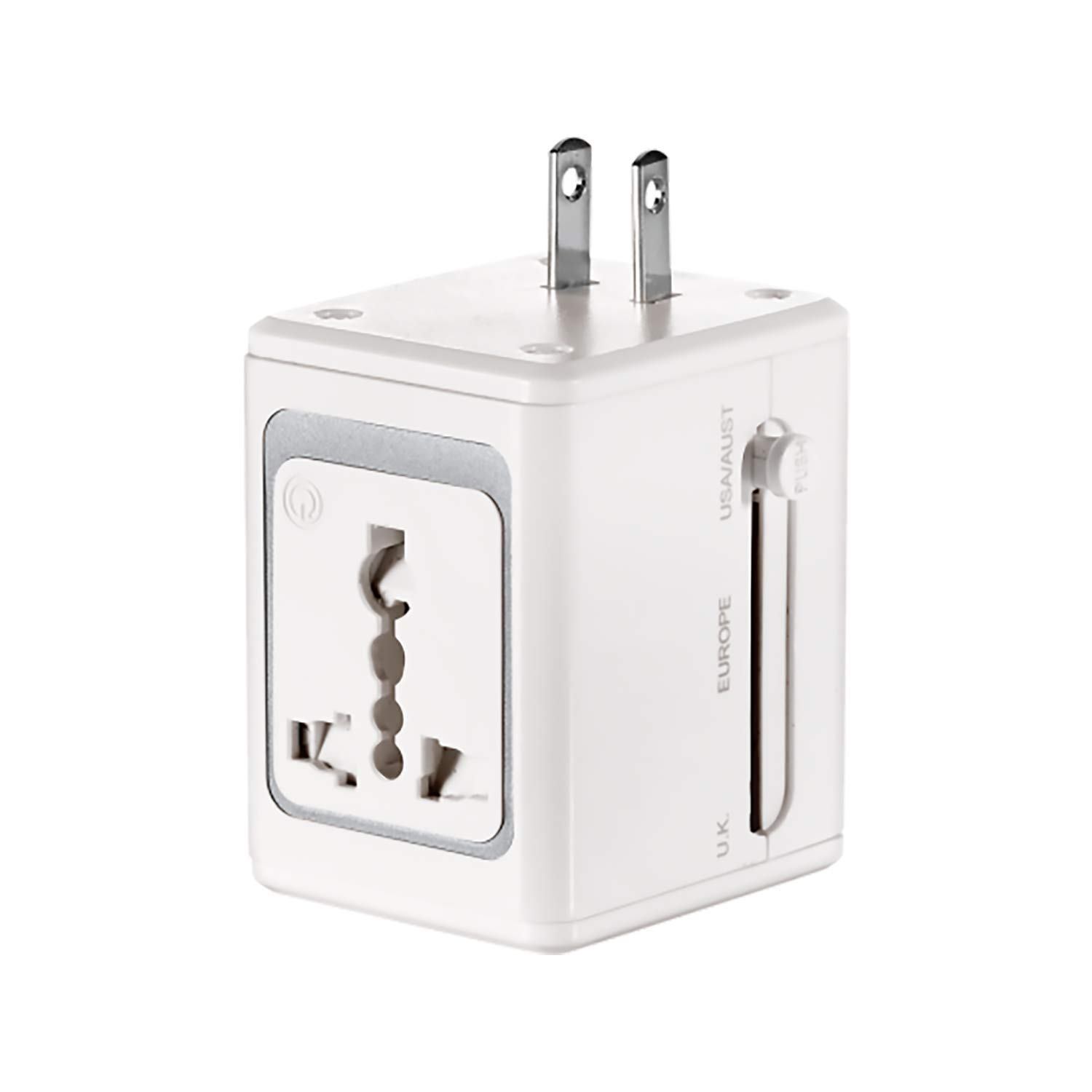 Lectronic Smart LS1ADR All-In-One Adapter with Built-In USB Port - Retail Packaging - White by Lectronic Smart