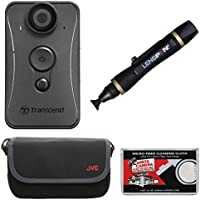 Transcend DrivePro Body 20 1080p HD Wi-Fi Video Camera Camcorder with Lens Pen + Case + Kit