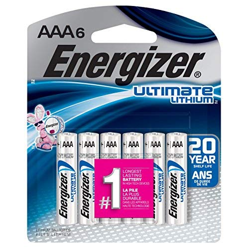 Energizer Ultimate Lithium AAA Batteries (6 Pack) L92BP-6 {Retail Package}