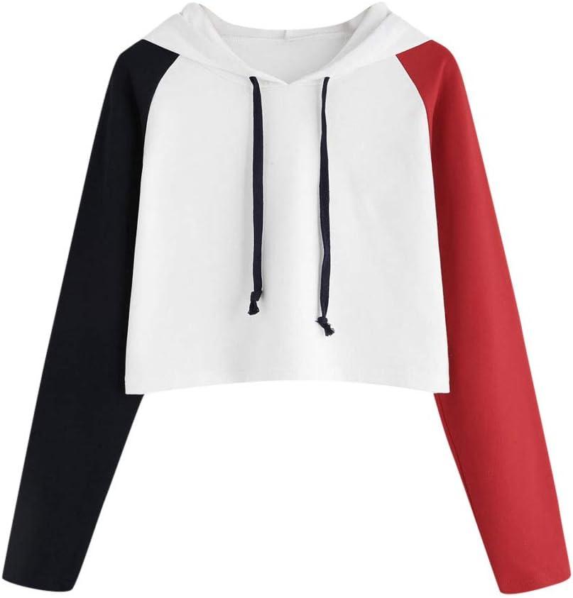 Hatop Womens Sweatshirts Hoodies Crop Top Pullover Blouse Outwear Tops