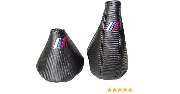 Autom/ático Gear y freno de mano negro Genuine Suede M3//////Bordado