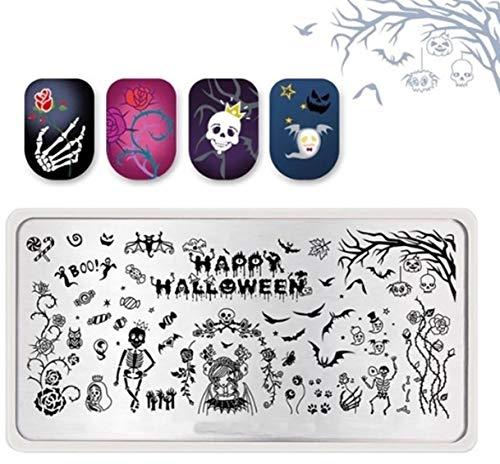 1 Pcs Halloween Skull Zombie Ghost Pumpkin Nail