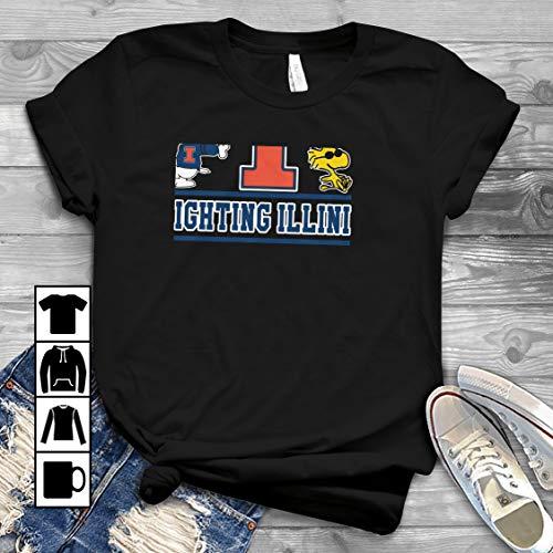 Snoopy Illinois Fighting Illini T Shirt Long Sleeve Sweatshirt Hoodie Youth