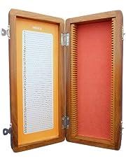 Ajax Scientific BI582-0050 Wooden Slide Box, 50 Slide Capacity
