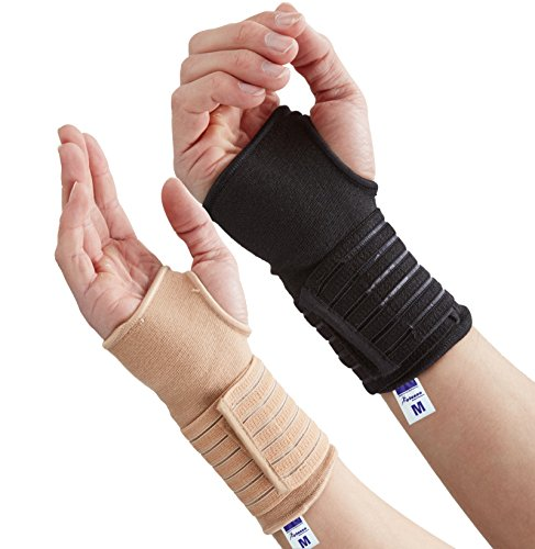 Actesso Handgelenkschutz handgelenkbandage (Klein Schwarz) - Ideal für Verstauchungen und Zerrungen des Handgelenks beim Sport; bietet ausgezeichnete Stützung des Handgelenks, ohne die natürliche Bewegungsfreiheit der Handgelenke einzuschränken