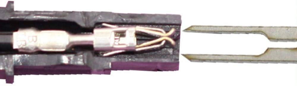 Haihuic Kit de Herramientas de Llave de extracci/ón de terminales para autom/óvil 18 Piezas Extractor de Pines de Terminal de Conector de Cable Arrancador para la mayor/ía de terminales de Conector