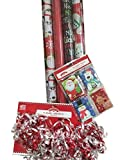 ''MERRY JINGLE'' Christmas Gift Wrap Set ~ Paper/Bows/Tags