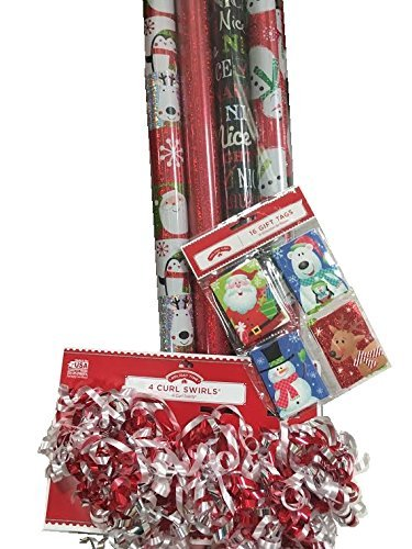 ''MERRY JINGLE'' Christmas Gift Wrap Set ~ Paper/Bows/Tags by abuela chachy's
