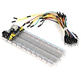 830 Ties Breadboard+5V/3.3V Power Supply Module+65PCS Jumper Wires Kit for Arduino Proto Shield Circboard Prototyping