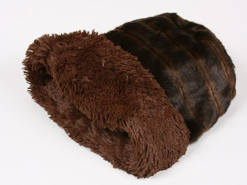 Cuddle Cup Dog Bed - Sable Mink with Chocolate Shag by Susan Lanci