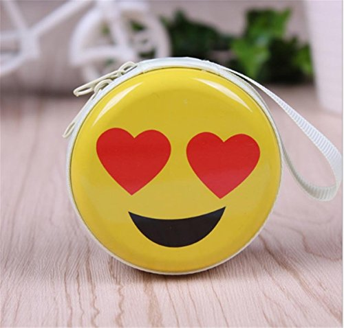 (Emoji Purse Earphone Case Layhome Pouch Bag Hard Carrying Case (003))