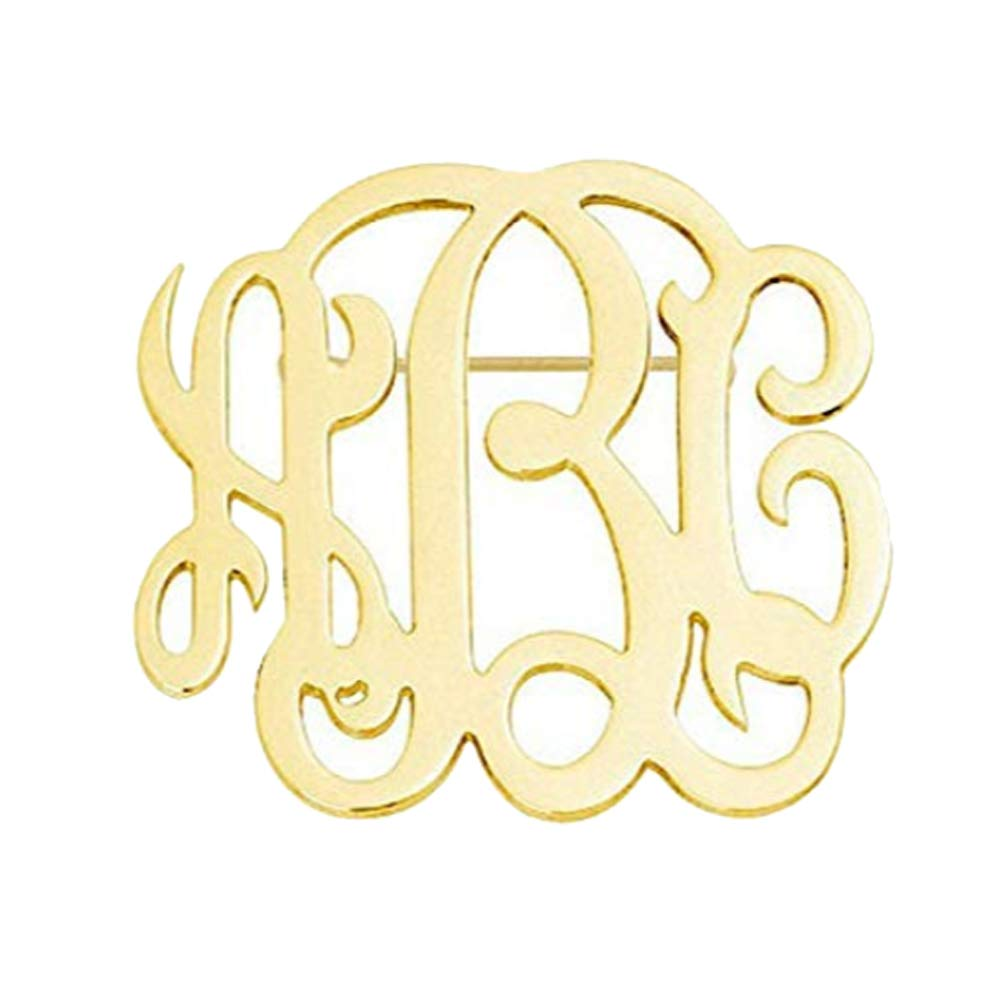 MANZHEN Personalized Custom Monogram Brooch Pins Customized Made with Any Initial
