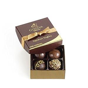 Godiva Chocolatier Chocolate Truffles, Signature, 4 Count Gift Box