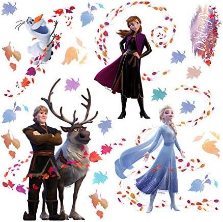 Kristoff 2 Elsa Destinys Calling Anna Sven Olaf 30 x 30 cm 1art1 La Reine des Neiges Sticker Adh/ésif Mural Autocollant