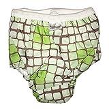 Kushies Potty Taffeta Training Pants - Large - Crazy Circles Green