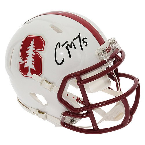 Christian McCaffrey Autographed Signed Stanford Cardinal Speed Mini Helmet - JSA Authentic by Sports Collectibles...
