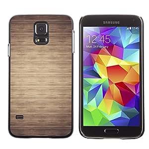 Be Good Phone Accessory // Dura Cáscara cubierta Protectora Caso Carcasa Funda de Protección para Samsung Galaxy S5 SM-G900 // Pattern Beige Minimalist Horizontal
