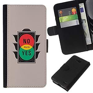All Phone Most Case / Oferta Especial Cáscara Funda de cuero Monedero Cubierta de proteccion Caso / Wallet Case for LG OPTIMUS L90 // No Yes Maybe