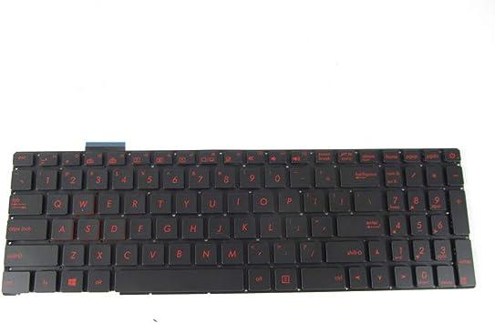 Black JIN-US Keyboard with Backlight for Asus GL551 GL551J GL551JK GL551JM GL551JW GL551JX G552 G552V G552VW G552VX FZ50JX GL752VW GL742VW Color : Black Laptop Accessories