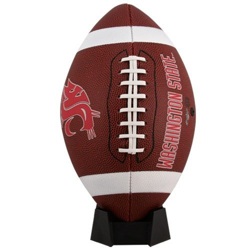 NCAA Game Time Full Size Football , Washington State Cougars, Brown, Full Size