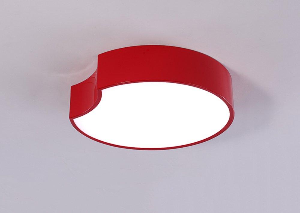 Global- Einfache moderne Mode Kinderzimmer Wohnzimmer Deckenlampe, Kindergarten Vergnügungspark LED Licht (Farbe   rot-S)