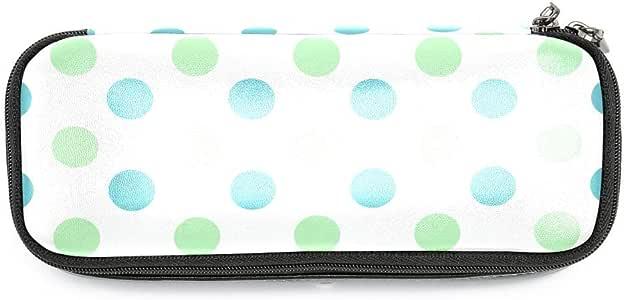 TIZORAX - Estuche para lápices, diseño de lunares, color verde: Amazon.es: Oficina y papelería