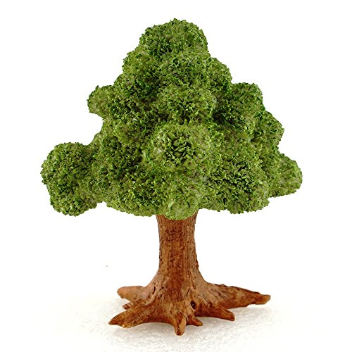 Top Collection Miniature Fairy Garden & Terrarium Mini Leafy Tree Decor with Pick, Small