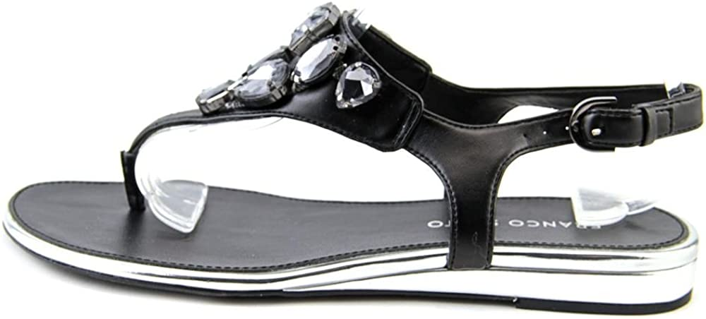 Franco Sarto Womens Galileo Black Synthetic Sandal 7.5 M
