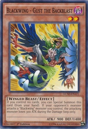 Yu-Gi-Oh! - Blackwing - Gust the Backblast (LC5D-EN121) - Legendary Collection 5D's Mega Pack - 1st Edition - (Gust Collection)