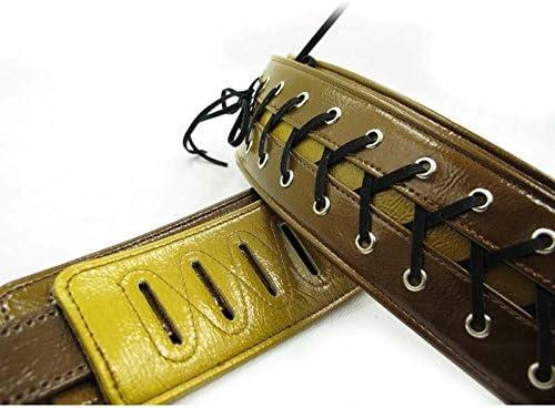 Correa de la guitarra eléctrica OxGrow™ Vorson/la correa de la guitarra/bajo eléctrico de la correa de la/16xd244 de color amarillo