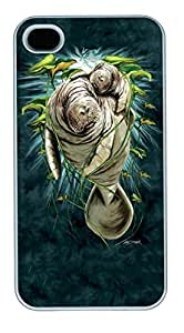 IPhone 4S Cases Kids Manatee Mom and Calf Polycarbonate Hard Case Back Cover for iPhone 4/4S White by lolosakes by lolosakes