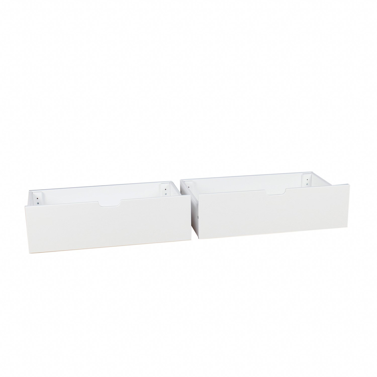 Max & Lily Solid Wood Under Bed Storage Drawers, White by Max & Lily