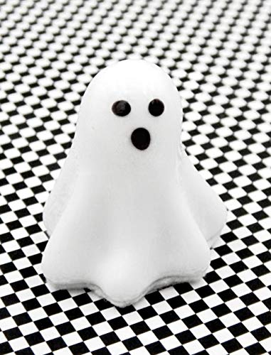 Spooky White Chocolate Glass Ghost Halloween Handmade Gift Home Table Décor Accent Apartment -