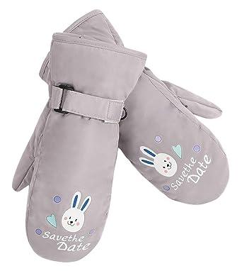 42254a9fc4b Cloud Kids Gants Enfant Hiver Moufles de Ski Enfant Unisexe Fille Garçon  Épais Gloves Motif Lapin