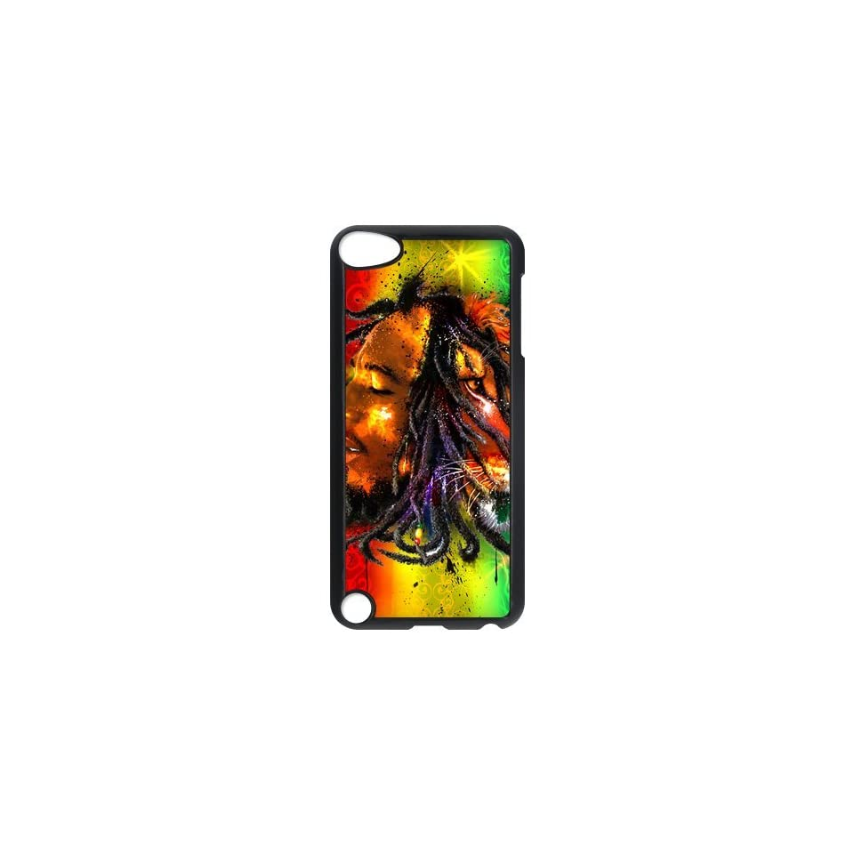 Jamaica Reggae Music Singer Bob Marley Rasta Ipod Touch 5th Case Hard Plastic Bob Marley Ipod Cover HD Image Snap ON Cell Phones & Accessories