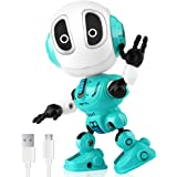 Betheaces Rechargeable Talking Robots Toys for Kids - Metal Robot Kit with Sound & Touch Sensitive Led Eyes Flexible Body, In