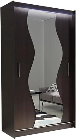 Armadio 2 Ante Wenge.Ye Perfect Choice Nuovo Moderno Specchio Camera Da Letto Armadio 2