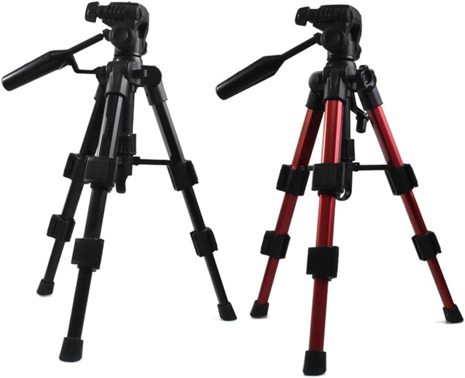 Red,1.4 FAN Tripod Lightweight Portable Travel Outdoor Mobile Phone Live Bracket with Bag