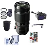 Fujifilm XF 50-140mm (76-213mm) F2.8 R LM OIS WR Lens - Bundle with 72mm Filter Kit, Soft Lens Case, Cleaning Kit, Capleash, DSLR Follow Focus & Rack Focus and Professional Software Package