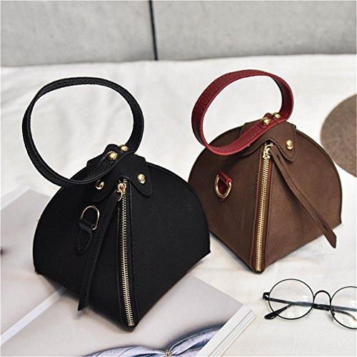 Yiliay Fashion Triangle Glassed Cloth Mini Shoulder Bags Borsa A Tracolla Piccola Borsa-grigio