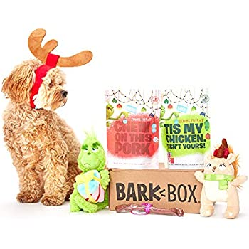 Pet Supplies : BarkBox Classic Box-1 Medium Dog Grinch