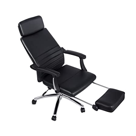 office recliner chair. High Back Office Reclining Leather Swivel Executive Chair Napping With Footrest And Adjustable Back, Recliner